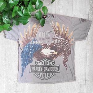 Harley Davidson Gray Graphic Tshirt
